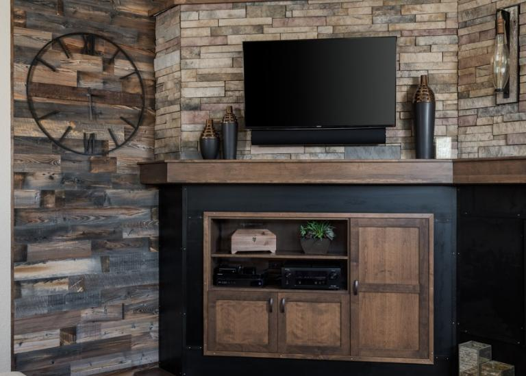 Sophisticated Transitional fireplace